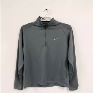 Nike Dri-Fit Jacket SZ L 1/2 Zip Pullover Gray